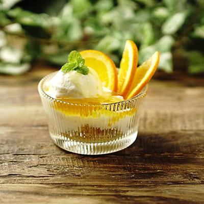 オレンジヨーグルトパフェの画像