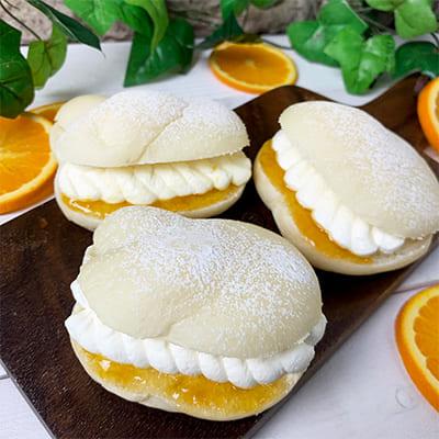 マンダリンオレンジホイップサンドの画像